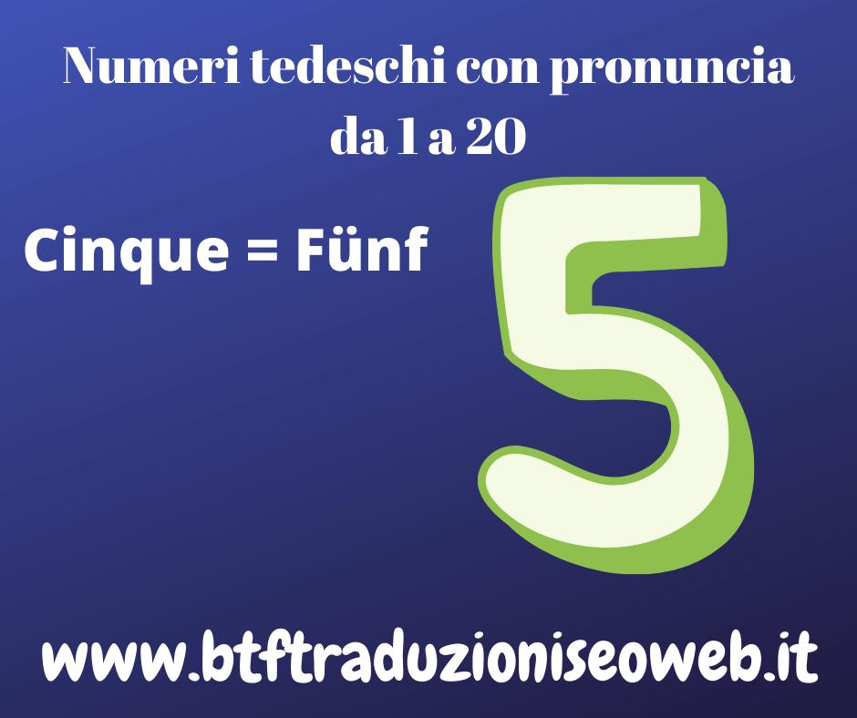 cinque fünf