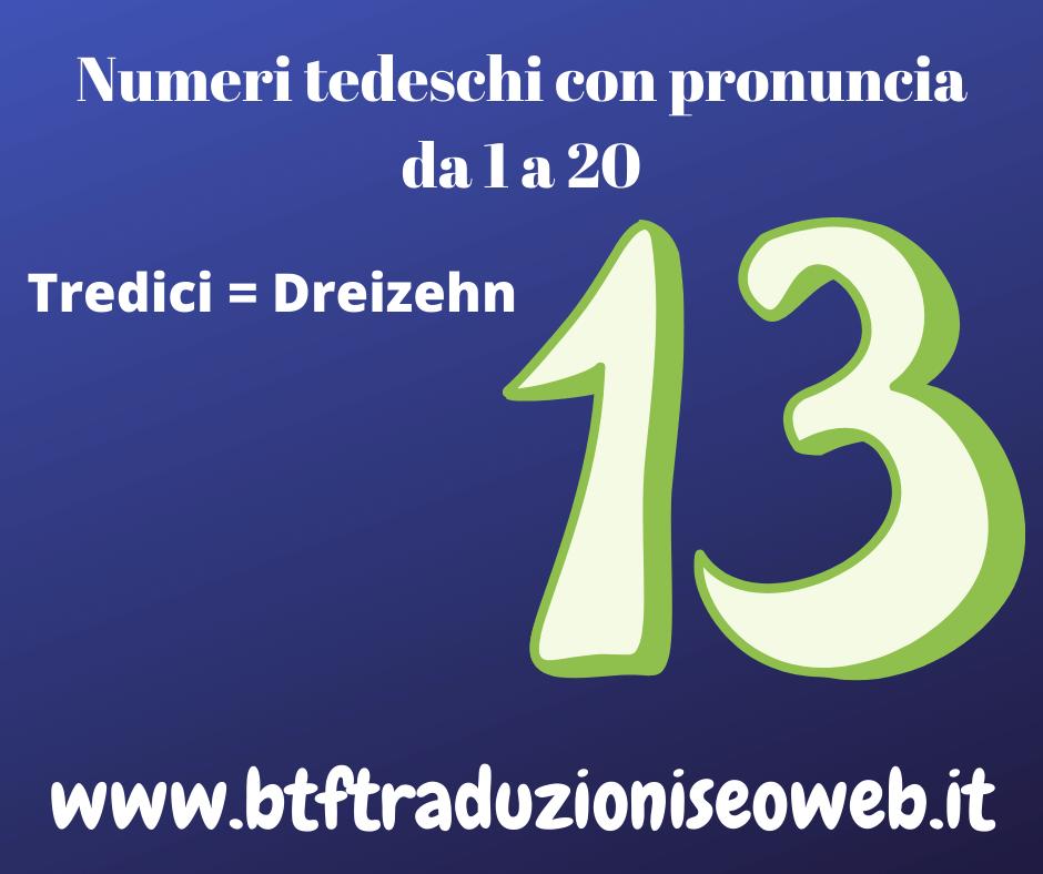 tredici dreizehn