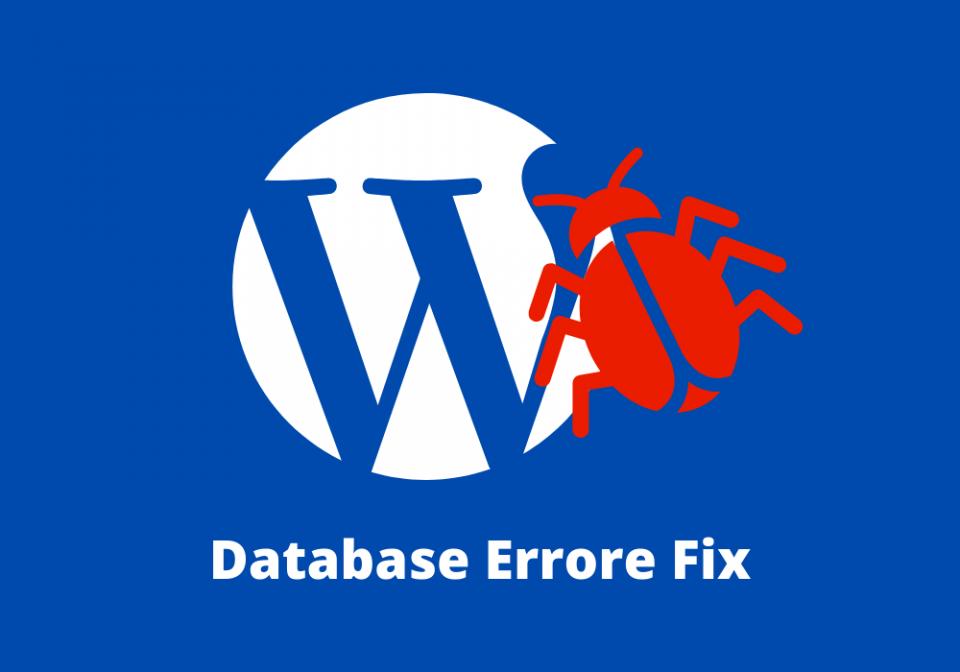 Database Errore Fix