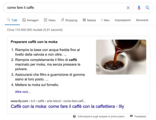 Come fare il caffé