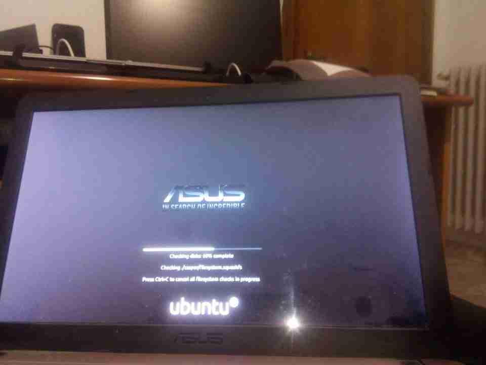 ubuntu verifica disco