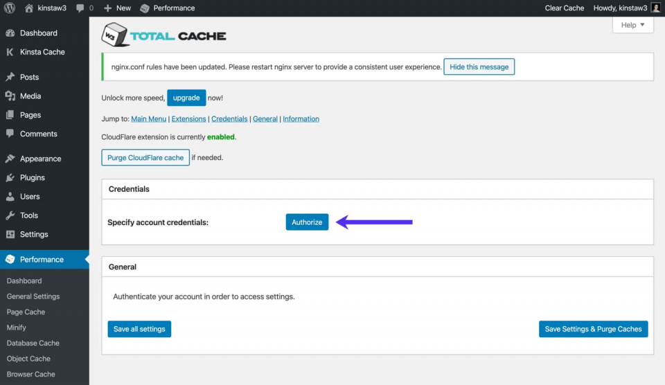 cloudflare w3 total cache