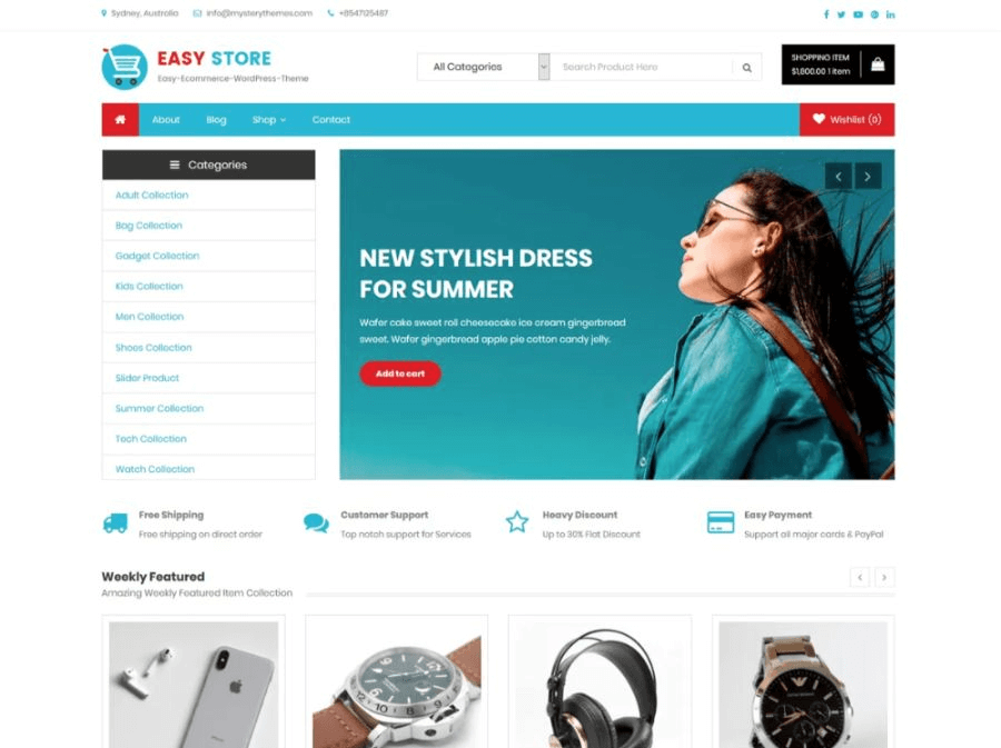easy store wordpress woocopmmerce