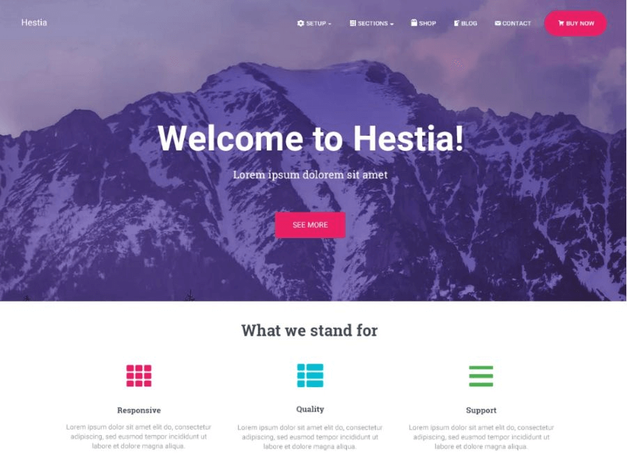 hestia wordpress woocommerce