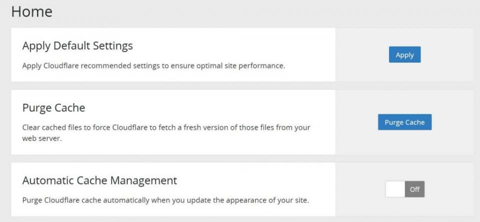 impostazioni plugin cloudflare