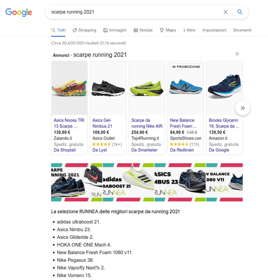 scarpe running 2021